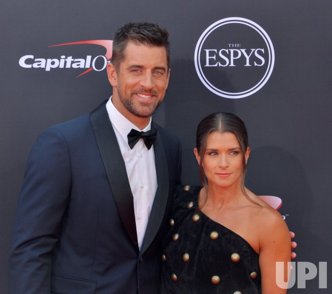 Aaron Rodgers and Danica Patrick attend the 26th annual ESPY Awards in Los Angeles