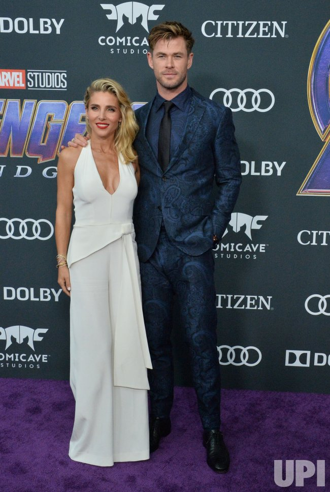 """Chris Hemsworth and Elsa Pataky attend """"Avengers: Endgame"""" premiere in Los Angeles"""