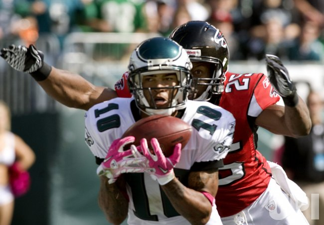 Philadelphia Eagles DeSean Jackson catches touchdown pass in the first quarter