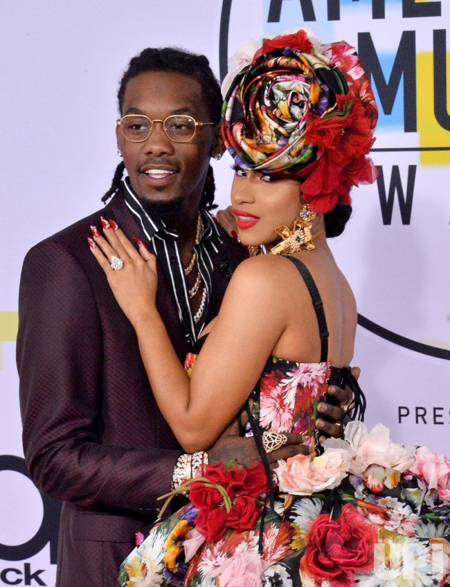 Offset and Cardi B attend 46th annual American Music Awards in Los Angeles