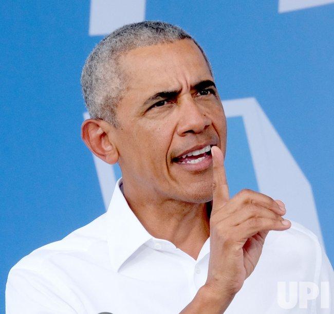 Former President Obama Campaigns for Biden for President in Miami, Florida