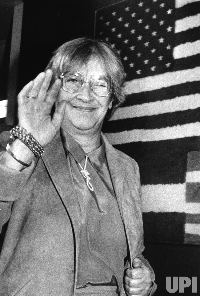 Yelena Bonner, wife of Soviet dissident Andrei Sakharov, leaves the United States after receiving medical treatment