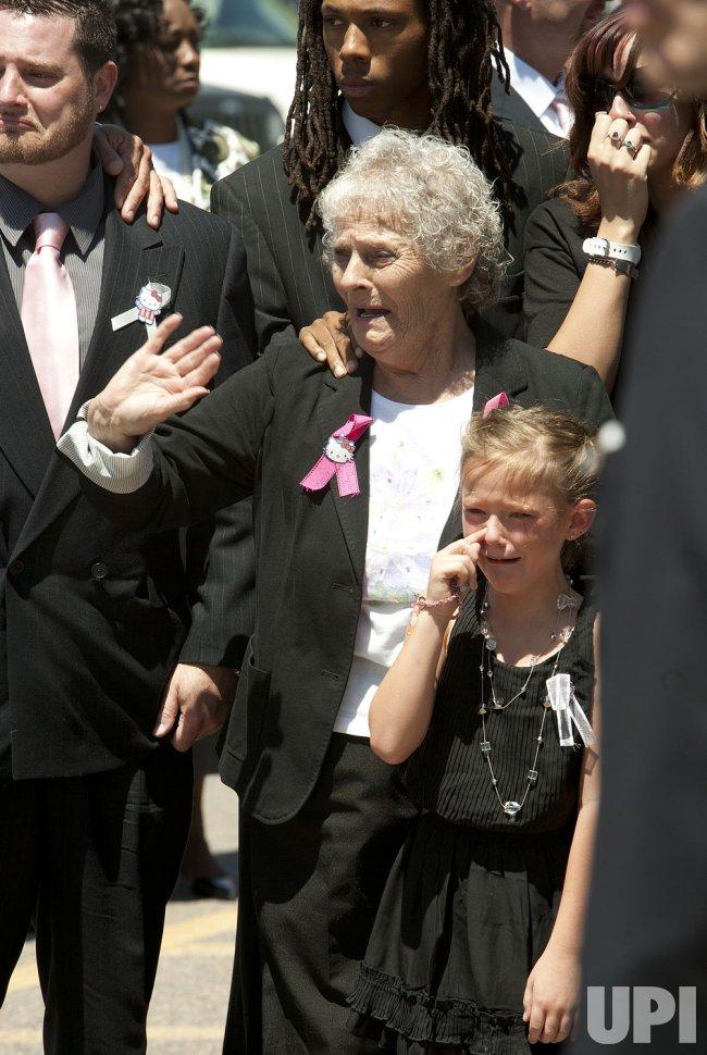 Funeral Services for Aurora Movie Massacre Victim Macayla Medek in Denver