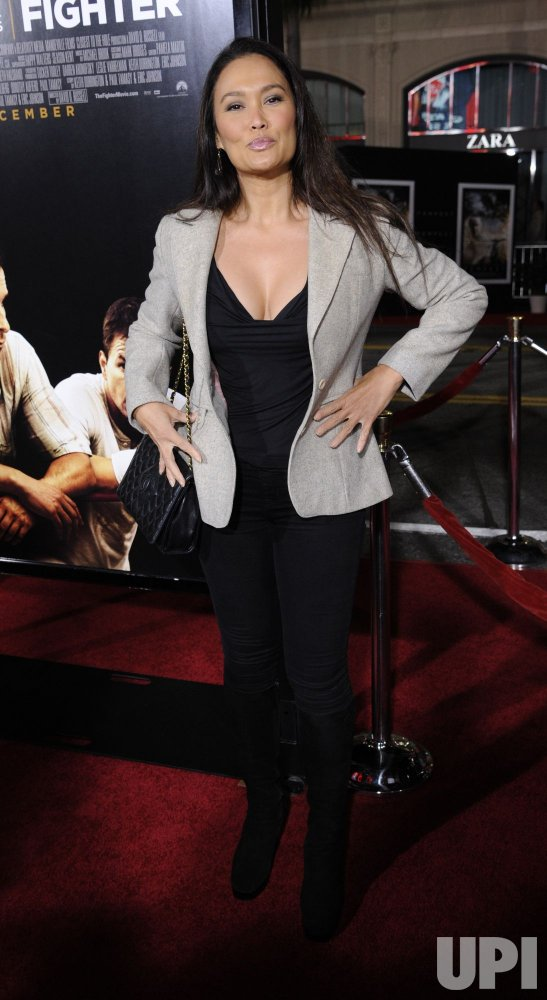 """Tia Carrere attends the premiere of the film """"The Fighter"""" in Los Angeles"""