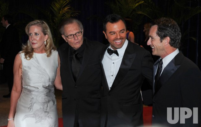 Larry King, Seth MacFarlane, and Jeff Probst, arrive at the White House Correspondents Dinner in Washington