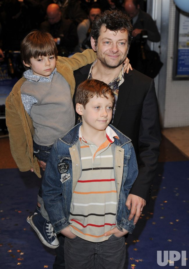 "Andy Serkis and family attend ""Nanny McPhee And The Big Bang"" premiere"