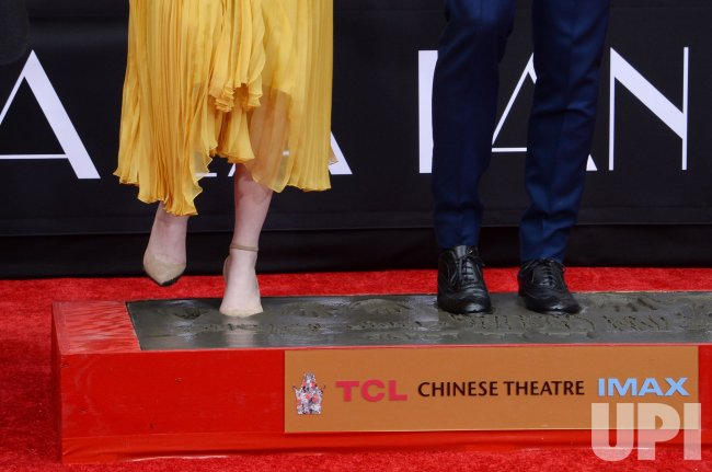 Emma Stone and Ryan Gosling immortalized in forecourt of TCL Chinese Theatre in Los Angeles