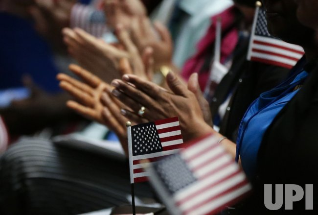Naturalization ceremony on the eve of Independence Day