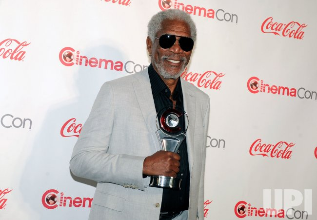 Morgan Freeman arrives at the 2013 CinemaCon Awards Ceremony in Las Vegas