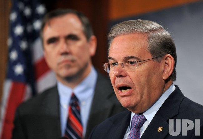 Sen. Robert Menendez (D-NJ) speaks on the financial reform bill in Washington