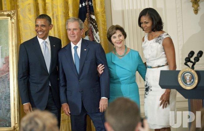 Former President George W. Bush White House portrait unveiling in Washington