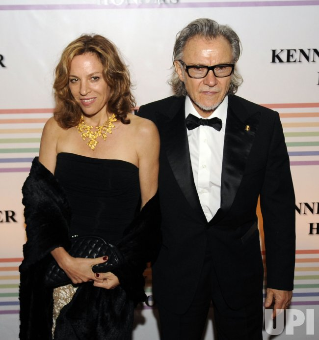 Harvey Keitel and Daphna Kastner arrive at Kennedy Center Honors in Washington