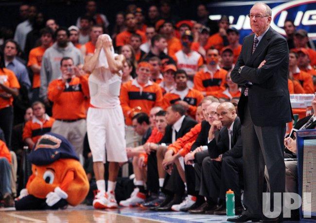 Syracuse Orange Head Coach Jim Boeheim At The Ncaa Big East Men S