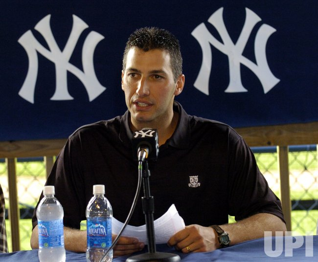New York Yankees' Andy Pettitte Holds Press Conference in Tampa, Florida