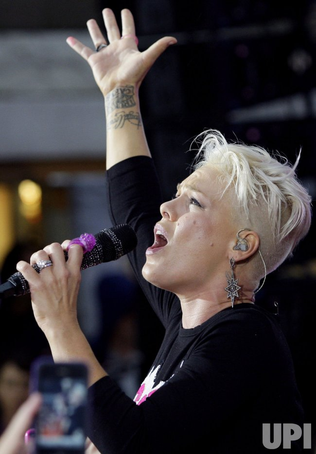 Pink on the NBC Today Show in New York