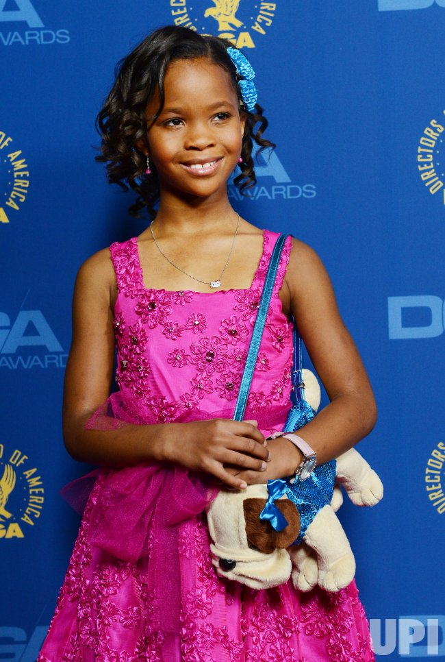 Quvenzhane Wallis attends the 65th annual DGA Awards in Los Angeles
