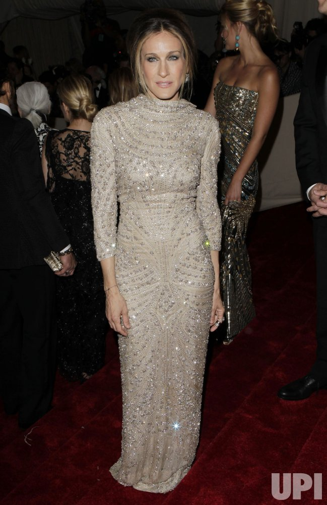 Sarah Jessica Parker arrives at the Costume Institute Gala Benefit in New York