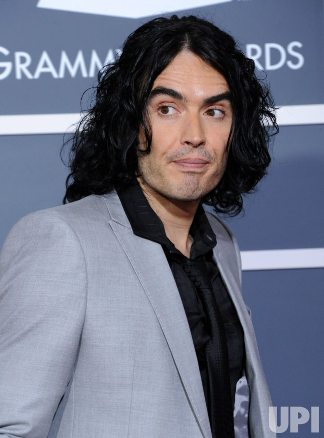Russell Brand arrives at the 53rd annual Grammy Awards in Los Angeles