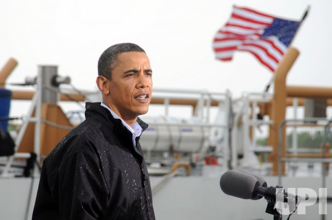 U.S. President Obama tours oil spill disaster in Louisiana