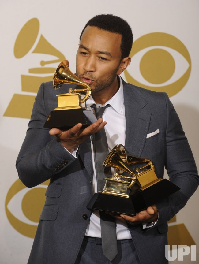 John Legend wins three Grammy Awards in Los Angeles
