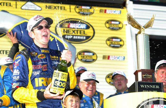 KURT BUSCH WINS THE 2005 NASCAR PENNSYLVANIA 500
