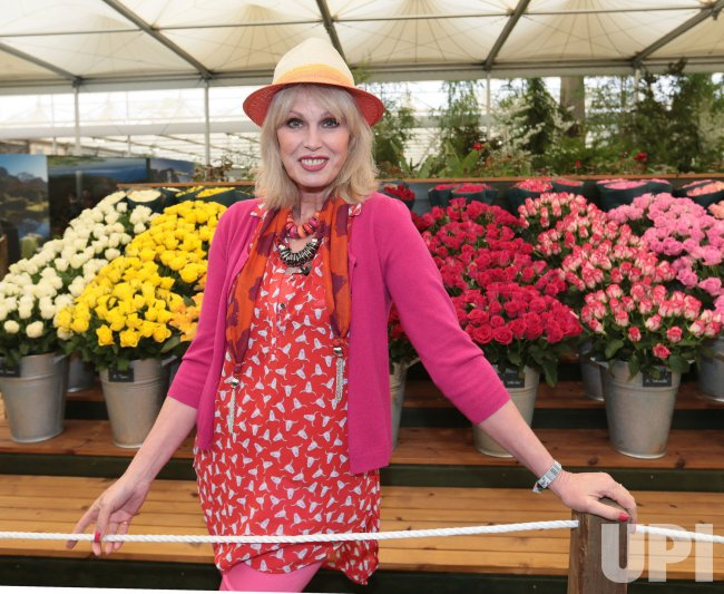 Joanna Lumley at Chelsea Flower Show 2013