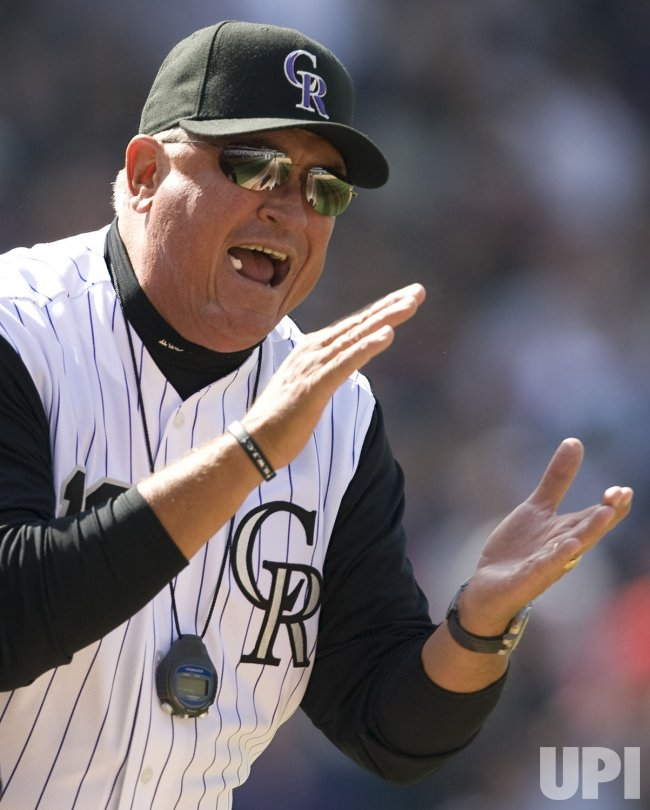 Rockies Fire Manager Clint Hurdle In Denver