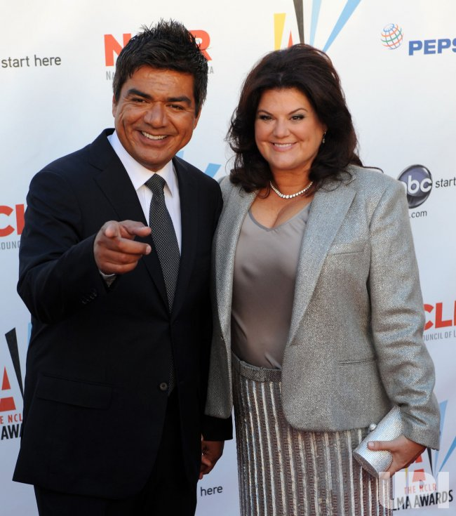 George Lopez arrives at the ALMA Awards in Los Angeles
