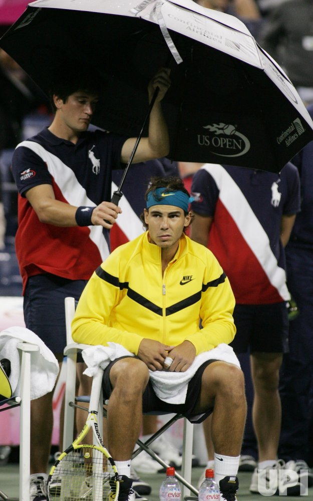 Nadal takes on Gonzales in quarter-final match at the US Open Tennis Championship in New York
