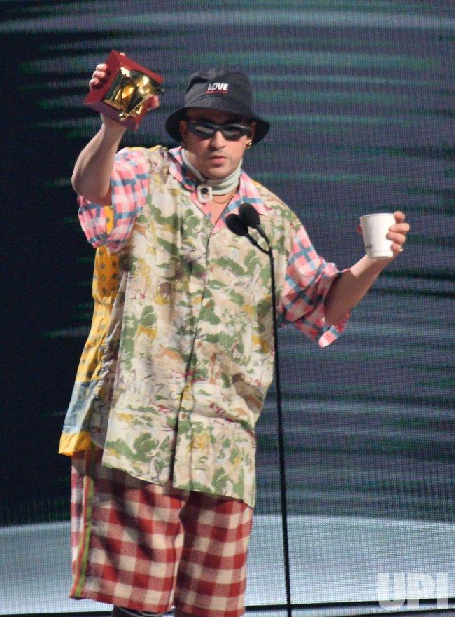 Bad Bunny wins award at Latin Grammy Awards in Las Vegas