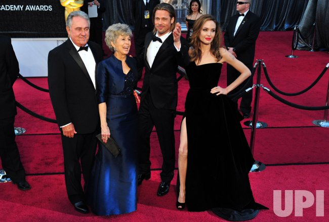 William Alvin Pitt, Jane Pitt, Brad Pitt and Angelina Jolie at the 84th Academy Awards at the at the 84th Academy Awards in Los Angeles
