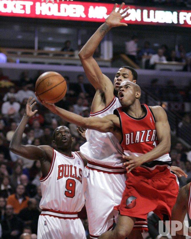 NBA BASKETBALL PORTLAND TRAIL BLAZERS VS CHICAGO BULLS