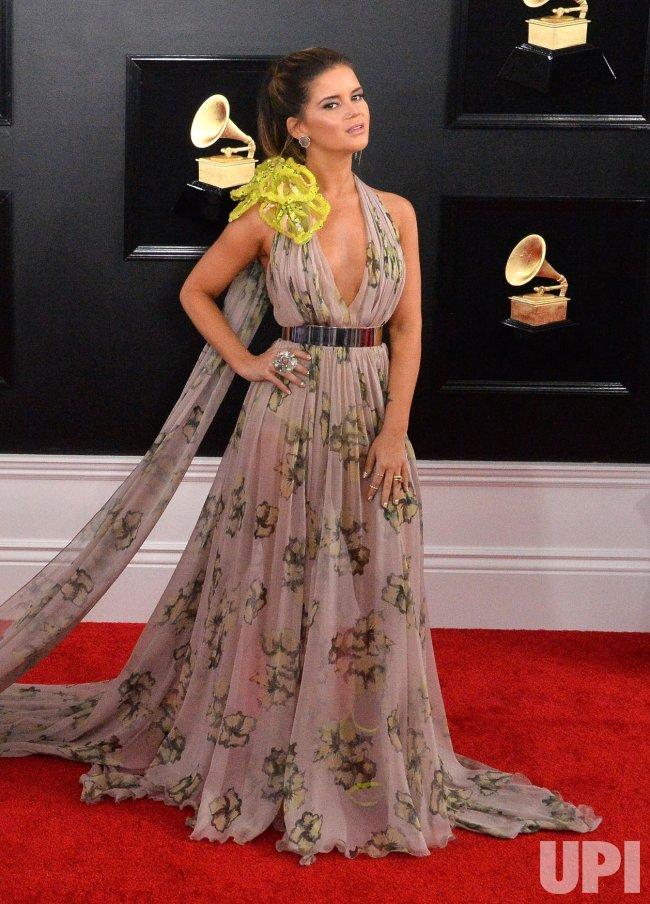 Maren Morris arrives for the 61st Grammy Awards in Los Angeles