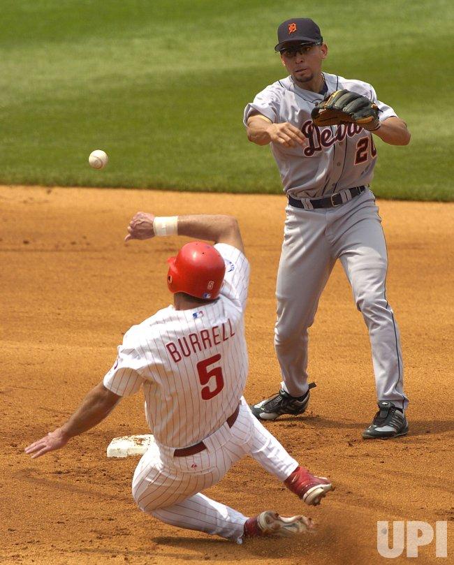 DETROIT TIGERS AND PHILADELPHIA PHILLIES MLB BASEBALL
