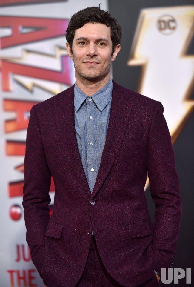 Adam Brody Attends Shazam Premiere In Hollywood Upi Com