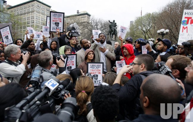 Million Hoodie March in Protest for Slain Teenager Trayvon Martin in Union Square In New York