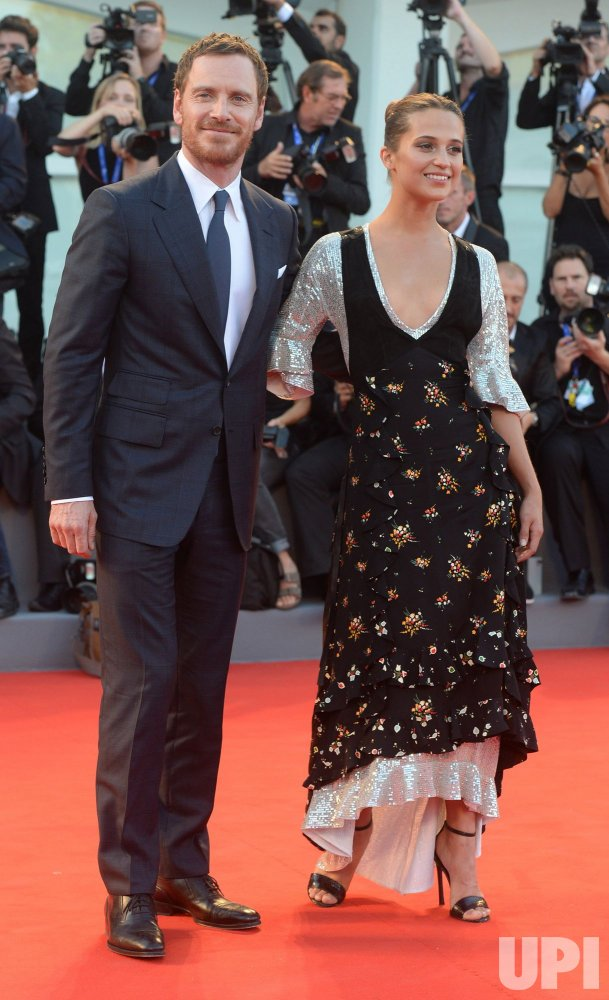 Alicia Vikander and Michael Fassbender attend the premiere of The Light Between Oceans at the 73rd Venice Film Festival in Venice