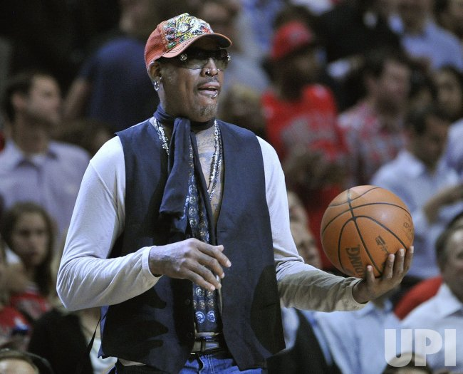Rodman brings out game ball in Chicago