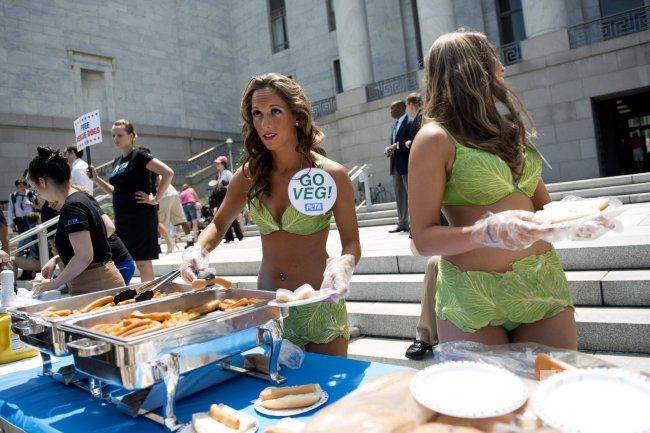 PETA Holds Veggie Dog Day on Capitol Hill in Washington