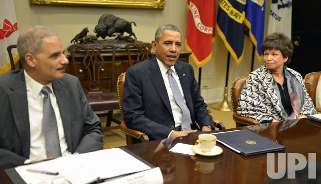 President Obama meets with African American civil rights leaders at the White House