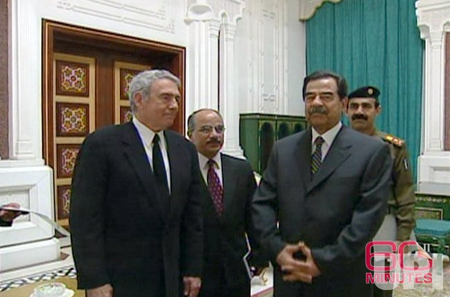 Dan Rather interviews Saddam Hussein