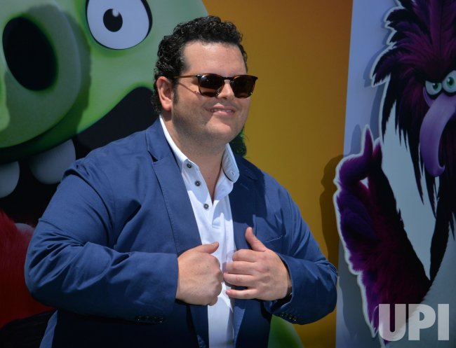 """Josh Gad attends """"The Angry Birds Movie 2"""" premiere in Los Angeles."""