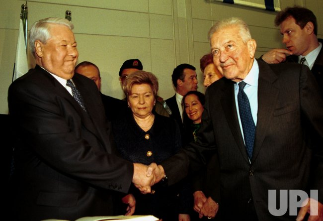 Boris Yeltsin visits Jerusalem