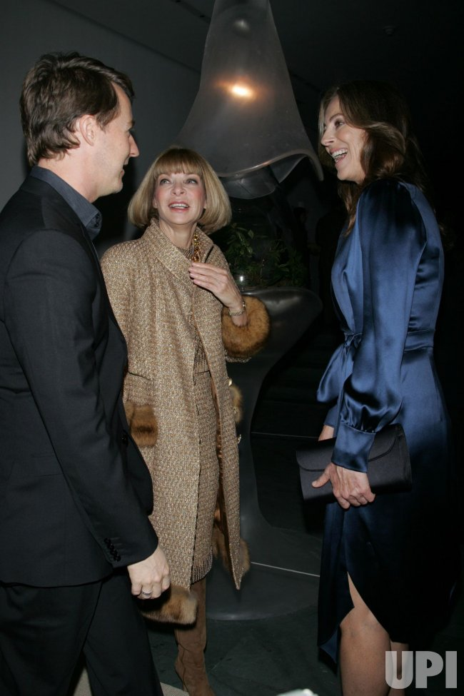 Anna Wintour, Kathryn Bigelow and Edward Norton arrive for the Museum of Modern Art Film Benefit tribute to Kathryn Bigelow in New York