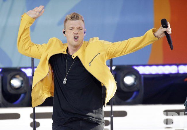 Nick Carter and Backstreet Boys perform on GMA in New York