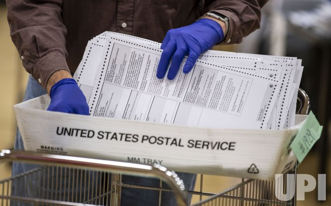Workers Process Mail-in Ballots in Maryland