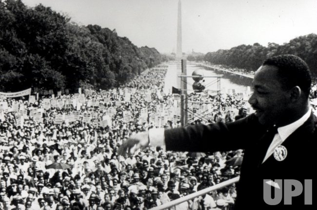 """The Rev. Martin Luther King Jr. delivers his famed """"I Have Dream"""" speech"""
