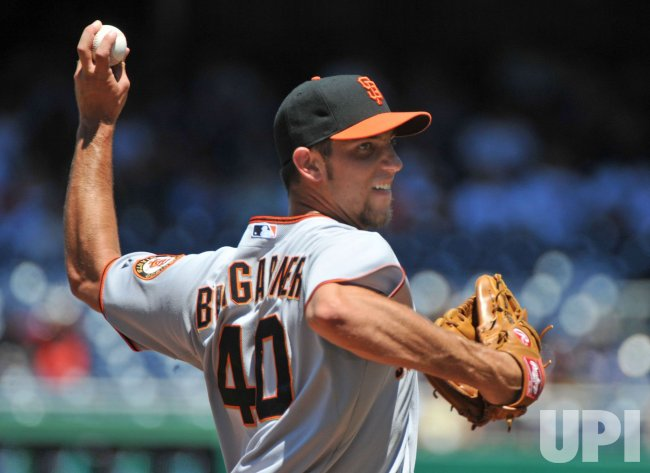 Giants' pitcher Madison Bumgarner in Washington