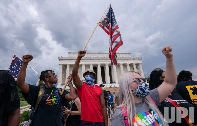 Juneteenth Rally at the LincolN Memorial in Washington, DC