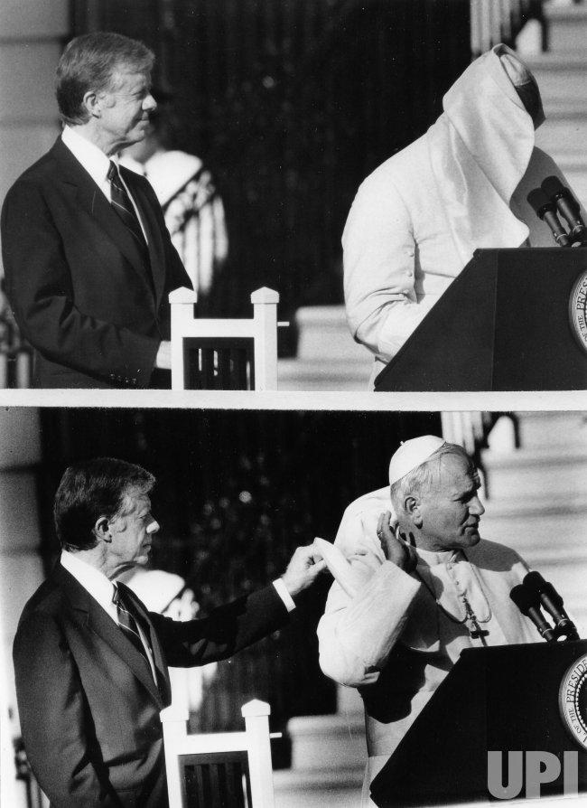 POPE JOHN PAUL II AND PRESIDENT JIMMY CARTER